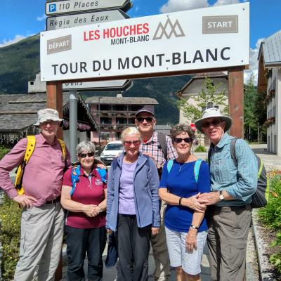ACTWFP walkers at Mont Blanc September 2019 Deans