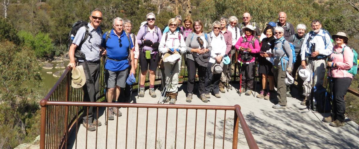 Beside the Murrumbidgee with walkers from Boroondara Bushwalkers 10 October 2019