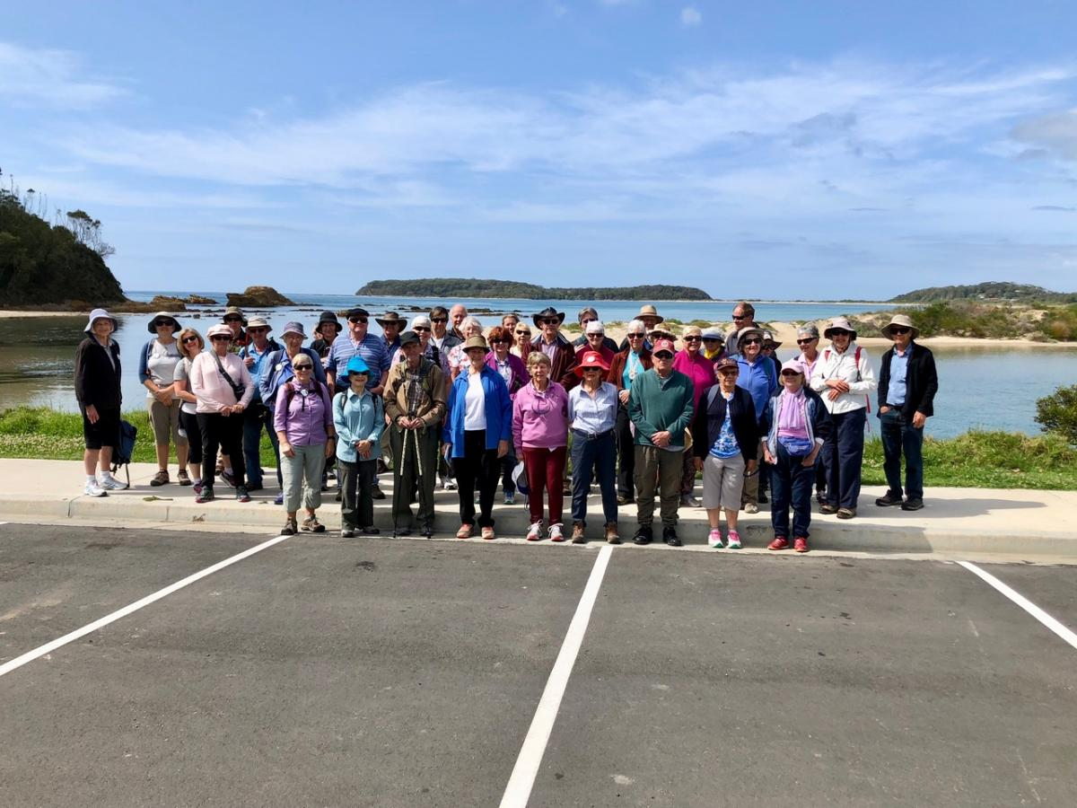 Broulee Island and Batemans Bay Trip 25 October 2018 Singleton group